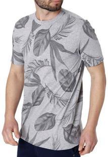 Camiseta Manga Curta Masculina Rovitex Cinza
