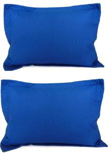 Kit Porta Travesseiro 2 Peças Matelassê 80X60 - Appel - Royal