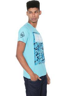 Camiseta Gangster Estampada Azul