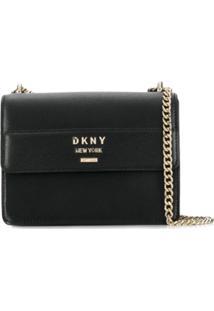 Dkny Monogram Chain-Strap Bag - Preto