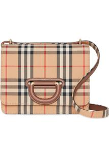 Burberry The Small Vintage Check D-Ring Bag - Neutro