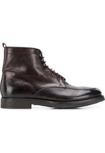 Alberto Fasciani Ankle Boot Com Cadarço - Marrom
