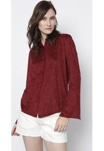 Camisa Em Camurça- Vinho- Maria Valentinamaria Valentina