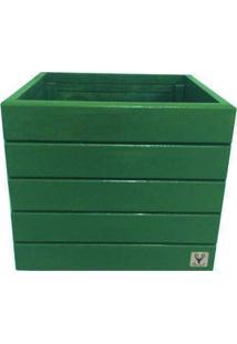 Vaso Madeira Cachepot Alce Couch Verde 36X40X40 - Verde - Dafiti