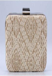 Clutch – Pashmina-Etnico - Polyester – Bege