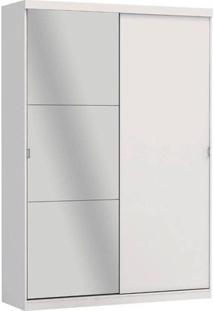 Guarda-Roupa 2 Portas De Correr A529 Smart 100 Mdf Com Espelho Branco - Kappesberg