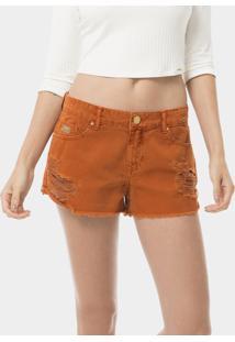 Shorts Hawaii Destroyed Laranja Cognac - Lez A Lez