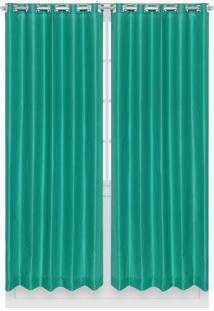 Cortina Santista Panamá Lisa 230X280 Verde
