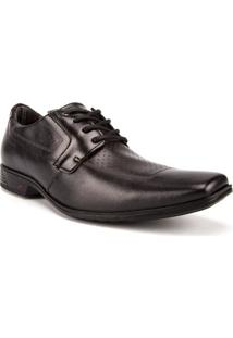 Sapato Social Pegada Com Pespontos Preto