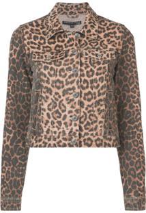 Veronica Beard Leopard Print Denim Jacket - Preto