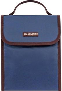 Bolsa Térmica- Azul Marinho & Marrom Escuro- 23X19X1Jacki Design