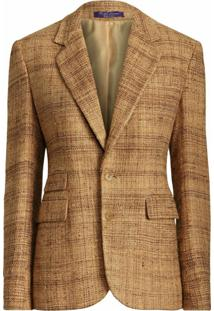 Ralph Lauren Collection Blazer Com Abotoamento Simples E Lapelas - Marrom