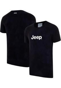 Camiseta Jeep Washed Tie Dye Azul Marinho - Gg - Masculino