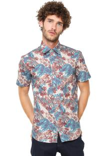 Camisa Krew Regular Estampada Bege