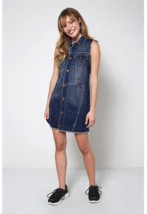 Vestido Jeans Dirty Oh, Boy! Feminino - Feminino-Azul