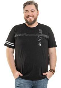 Camiseta Com Recorte Preto Bgo Plus