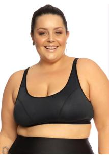 Top Plus Size Com Regulagem Preto