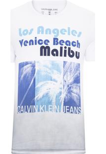Camiseta Masculina Los Angeles Venice - Branco