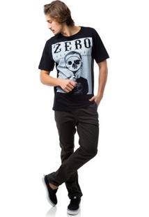 Camiseta Zero Fuller Masculina - Masculino-Preto