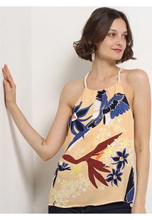 Blusa Lez Lez Tecido Rayon Bali G Veuelo Feminina - Feminino
