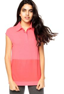 Camisa Polo Forum Bordado Rosa
