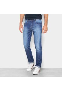 Calça Jeans Reta Biotipo Estonada Cintura Média Masculina - Masculino