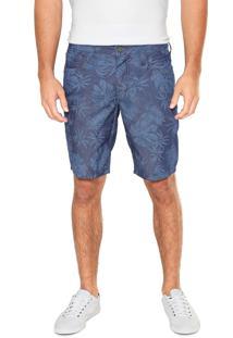 Bermuda Jeans Colcci Reta Davi Azul-Marinho