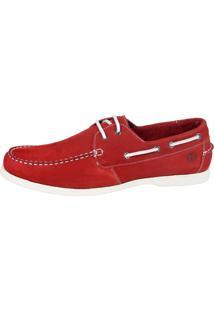 Docksider Casual Moderno Sapatotop Shoes Confortável Vermelho