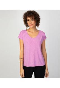 Camiseta Liz Easywear Manga Curta Feminina - Feminino-Rosa