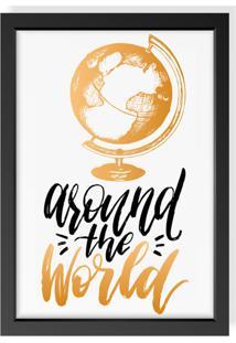 Quadro Decorativo Around The World Preto