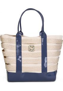 Bolsa Petite Jolie Shopper Summer Feminina - Feminino-Azul