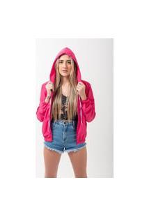 Jaqueta Corta Vento Pink Feminina
