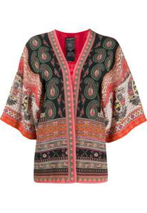 Etro Kimono Com Estampa Paisley - Vermelho