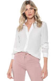 Camisa Ana Hickmann Reta Lisa Off-White