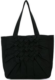 Yohji Yamamoto Twill Tote Bag - Preto