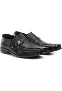 Sapato Social Couro Walkabout Metal Masculino - Masculino-Preto