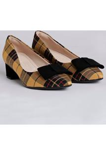 Sapato Feminino Bebecê Amarelo/Preto