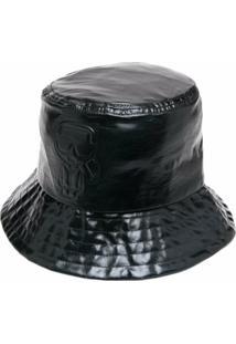 Karl Lagerfeld Chapéu Bucket Metálico - Preto