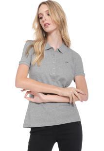 b04050da4 ... Camisa Polo Lacoste Logo Cinza