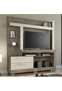 Estante Para Tv Até 55 Polegadas 2 Gavetas Nt 1055 Canela/Areia - Notavel