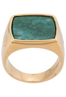 Nialaya Jewelry Anel De Sinete Quadrado - Dourado