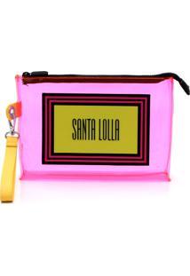 Clutch Santa Lolla Vinil Rosa