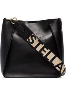 Stella Mccartney Bolsa Transversal Com Logo - Preto
