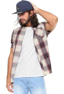 Camisa Element Reta Xadrez Cedar Bege