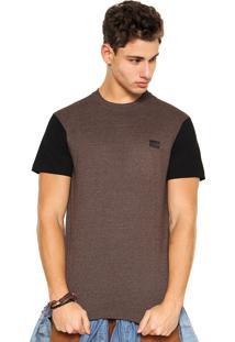 Camiseta Hang Loose Bicolor Marrom/Preta