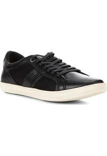 Sapatênis Couro Shoestock Urban Masculino - Masculino-Preto