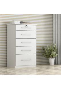 Comoda Livia 5.Gav. 1 Porta Branco - Branco - Dafiti