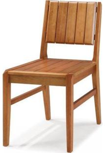 Cadeira Em Madeira Maciça Angra Casa E Jardim Móveis - Caixa Com 2 Unidade - Verniz Jatobá