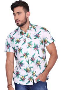 Camisa Rota Do Mar Surf Pardise Off-White