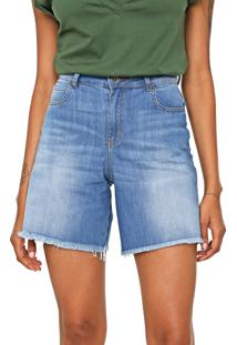 Bermuda Jeans Colcci Reta Hailey Azul